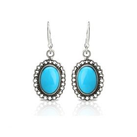 Turquoise Dangle Silver Earring