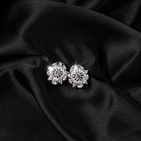 Izaara Premium Silver Earrings set with zirconia from Swarovski® Stone