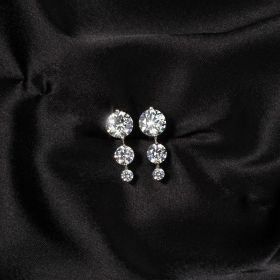 Izaara Premium Silver Earring set with zirconia from Swarovski®