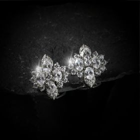 Izaara Premium Silver Earrings set with zirconia from Swarovski®