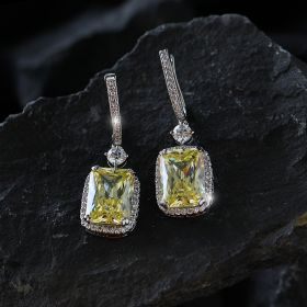 Yellow Izaara Earring with Swarovski® Zirconia Stone