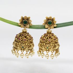 Golden Colored Fashion Jhumka