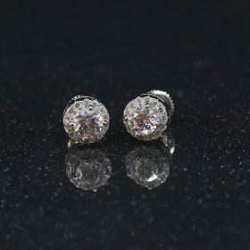 Izaara 92.5 Sterling silver stud earring with Swarovski® Zirconia