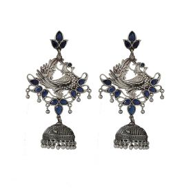 Izaara Ethnic Fashion  Peacock Long Jhumka Earring with  For Girls And Women