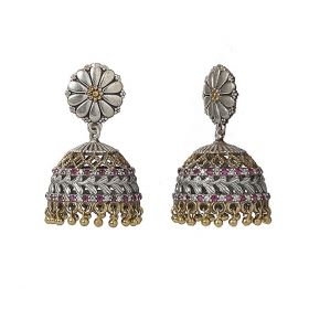 Izaara Oxidised Fashion Ethnic Jhumki Earring For Girls And Women