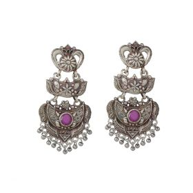 Izaara Oxidised Fashion Ethnic Hanging Earrings For Girls And Women