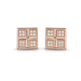 Izaara 92.5 Premium Silver Earring with zirconia from Swarovski