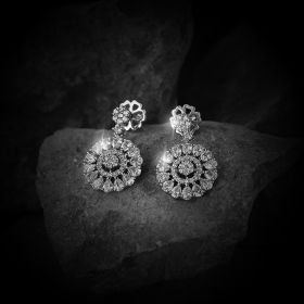 Drop Izaara Earring With Swarovski Zirconia