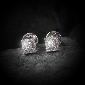 Square Stud Izaara Earring With Swarovski® Zirconia