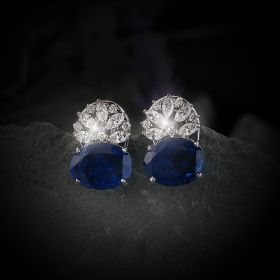 Blue Izaara Earring With Swarovski Zirconia Stone
