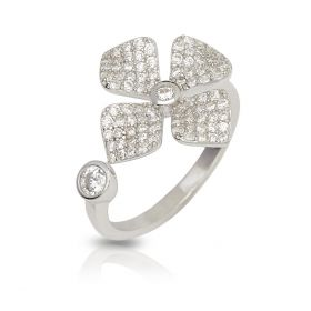 Izaara 92.5 sterling silver ring Studded with American Diamond