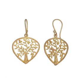 Handcrafted Gold Polished Earring