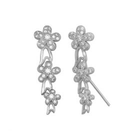 Flower Sequins Drop Earring