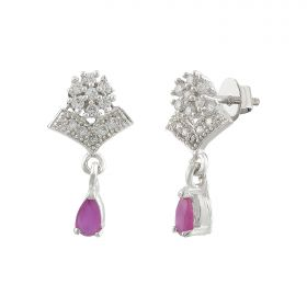 Izaara Premium Silver Earrings