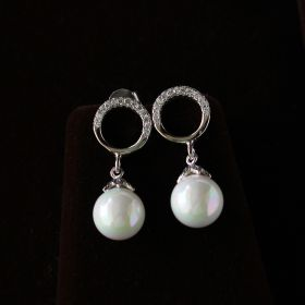 Hoop Dangal Earring With Pearl Drop