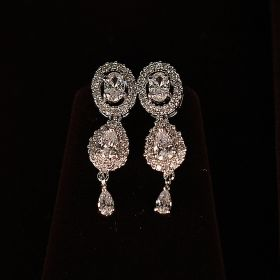 Long Earring with American Diamonds