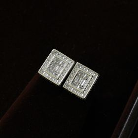 Square Silver Sterling Earring