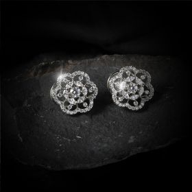 Elegant Flower Shape Izaara Earring with Swarovski® Zirconia Stone