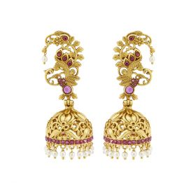 Izaara Gold Plated Fashion Jhumka Earring for Girls and Women