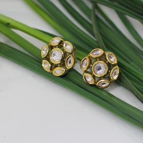 Izaara Gold Plated Fashion Clip On Earring for Wedding for Girls and Women