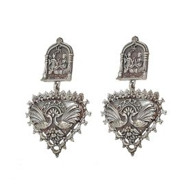 Izaara Ethnic Fashion Drop Peacock Earring For Girls And Women