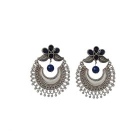 Izaara Oxidised Fashion Ethnic Hoop Earring For Girls And Women