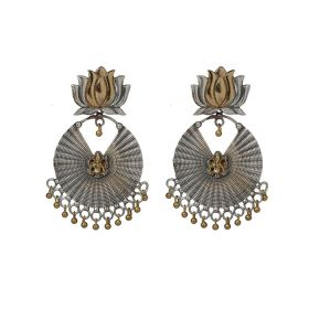 Izaara Ethnic Fashion ganapti Hoop Earring for Girls and Women