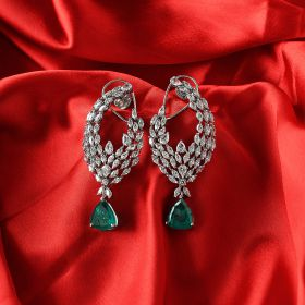 Izaara Premium Silver Swarovski Earrings