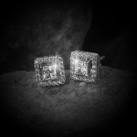 Beautiful Square Izaara Earring With Swarovski® Zirconia