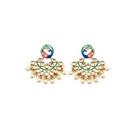 Izaara  Fashion Peacock Hoop Earring For Girls And Women