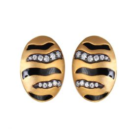 Oval Shape Stud Earring for Party