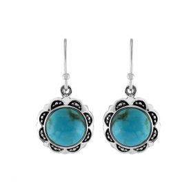 Turquoise Round Dangle Earring