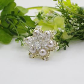 White Pearl & Glass Pearl Ring