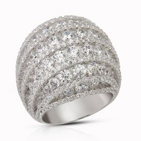 Crown Ring Izaara Premium Silver Ring