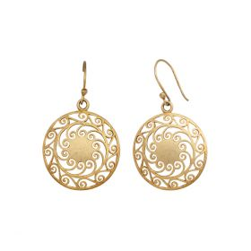 Dangle Gold Polished Earring