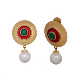 Pearl Earring For Festival & Pooja